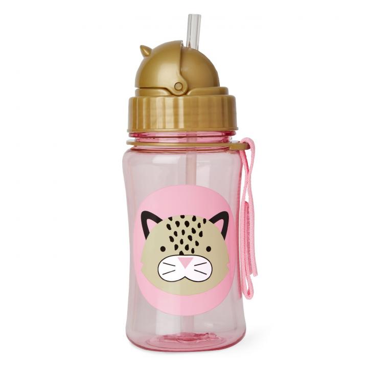 Skip Hop Zoo Flaska med sugrör Leopard
