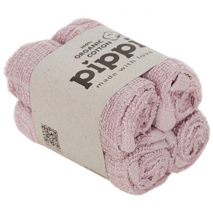 Tvättlappar 4-p Pippi Organic Violet Ice