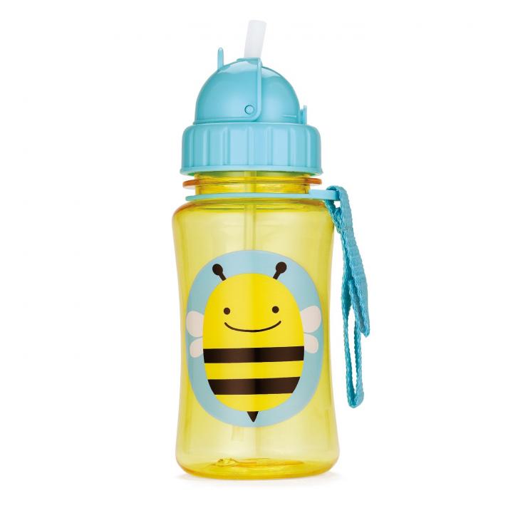 Skip Hop Zoo Flaska med sugrör Bi
