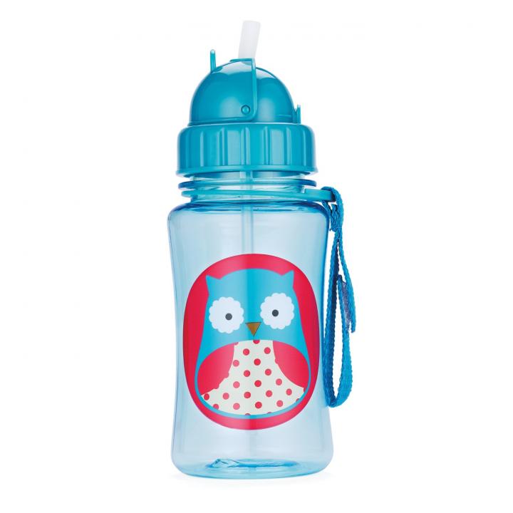 Skip Hop Zoo Flaska med sugrör Uggla
