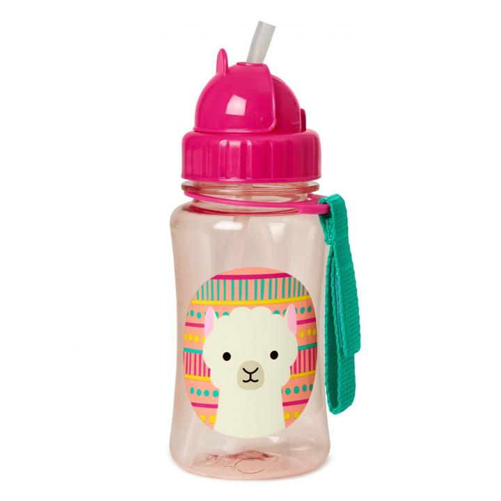 Skip Hop Zoo Flaska med sugrör Llama