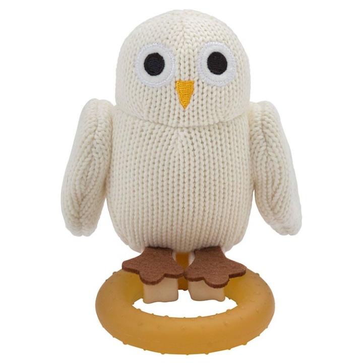 Rätt Start Bitleksak Baby Owls med naturgummiring