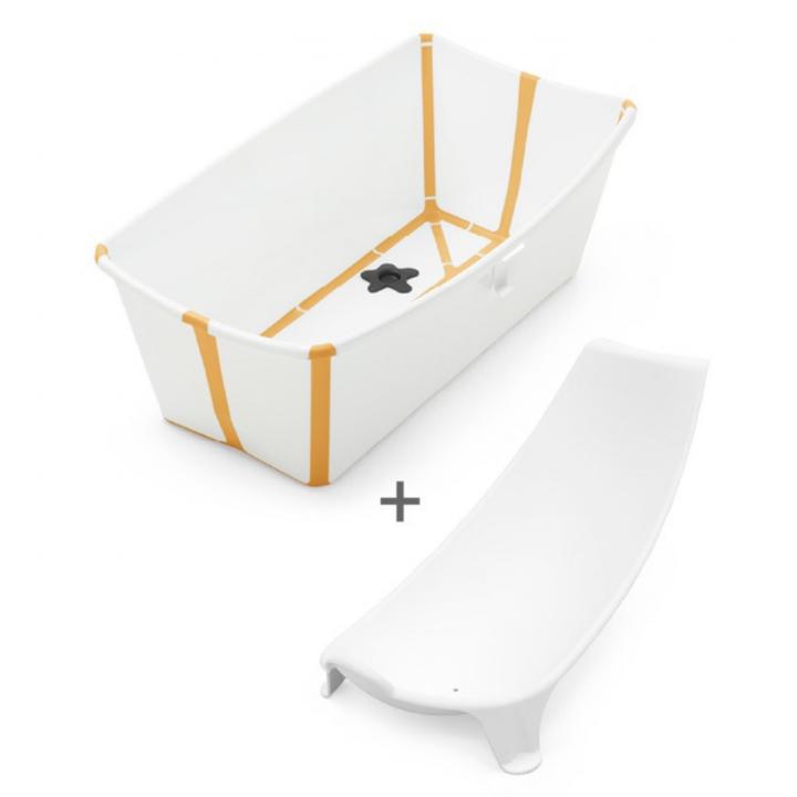 Stokke Flexi Bath Bundle Heat Sensitive White Yellow