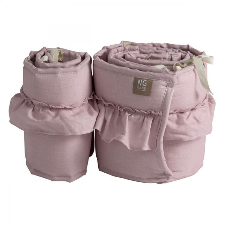 NG Baby Mood Spjälskydd Volang Bedside Crib Rose