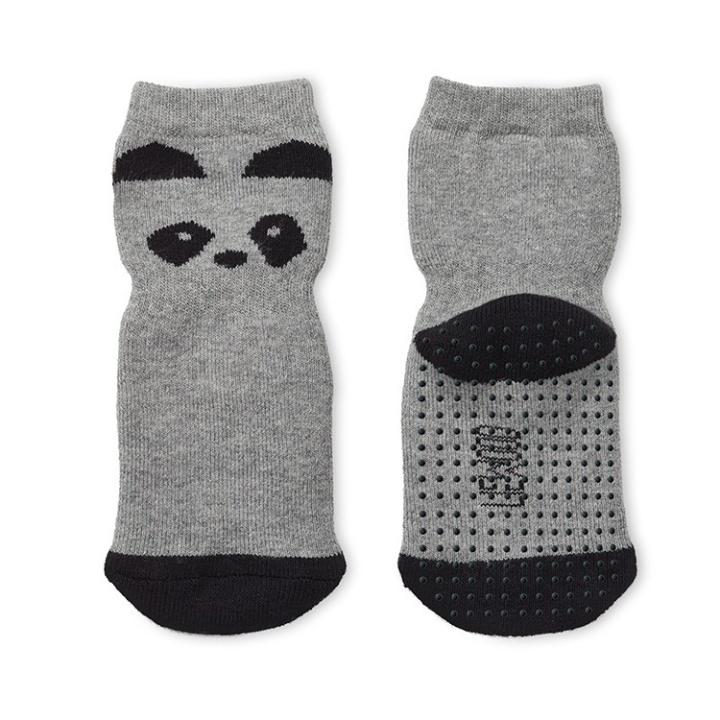Liewood Nellie Halksockor Panda Grey Melange