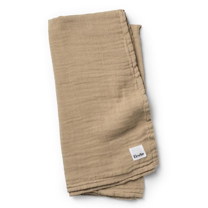 Elodie Details Bamboo Muslin Blanket Warm Sand