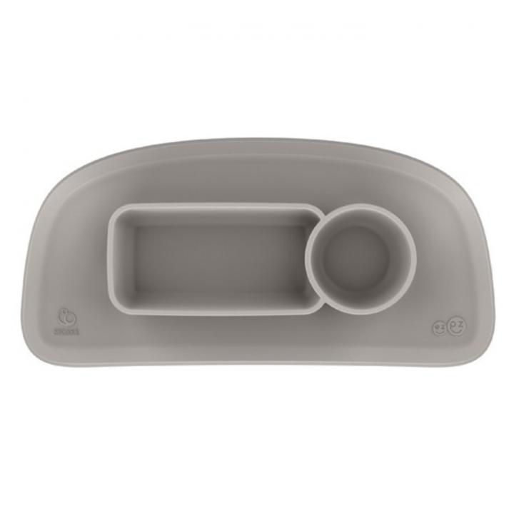 Stokke Tripp Trapp Ezpz Underlägg med tallrik Soft Grey V2