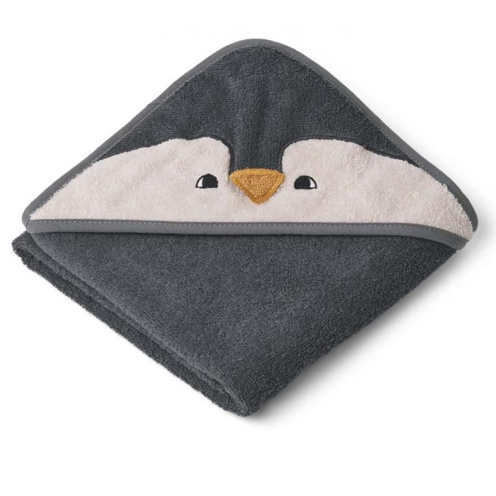 Liewood Albert Badcape Penguin Stone Grey
