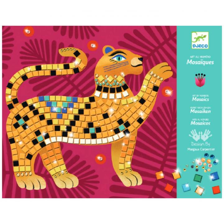 Djeco Skapa tavlor med mosaik Djungeldjur