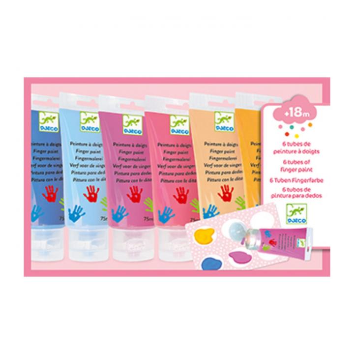 Djeco Fingerfärg Tub Pastell
